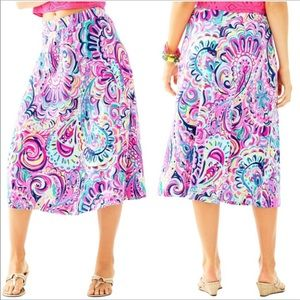Lilly Pulitzer Shia Midi Skirt Size Medium